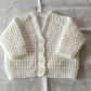 Hand knitted v neck baby cardigan 0-3 months