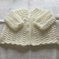 Hand knitted matinee jacket - 0-3 months