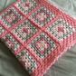 Hand crocheted granny square baby blanket
