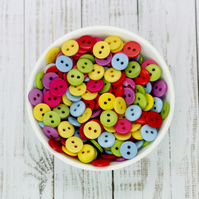 9mm Resin Buttons Mixed Colours