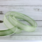 Light Green Organza Ribbon, 15mm x 25m, Full Reel Organza Ribbon