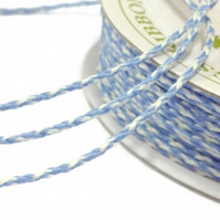 Bakers Twine Blue Iris and Ivory - 20m x 2mm - Full Reel