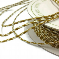 Bakers Twine Gold and Ivory - 20m x 2mm - Full Reel