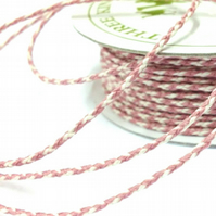 Bakers Twine Mauve and Ivory - 20m x 2mm - Full Reel