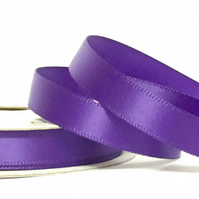 Chocolate Purple Satin Ribbon, 10mm - 7 Metres Full Reel