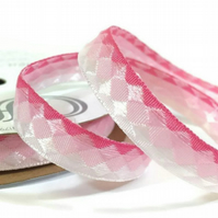 Pink Facets Ribbon - 3.6 Metres - Full Reel