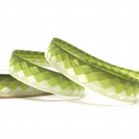 Green Facets Ribbon - 3.6 Metres - Full Reel