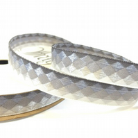 Silver Facets Ribbon - 3.6 Metres - Full Reel