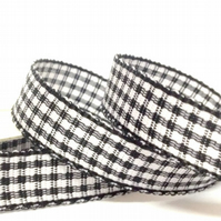 Black Gingham Ribbon