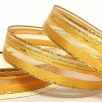 15mm Gold Sparkle Ribbon