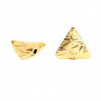 Gold Plated Fancy Triangle Bead