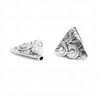 Antique Silver Fancy Triangle Bead