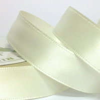 10mm Ivory Satin Ribbon