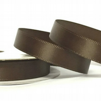 10mm Brown Satin Ribbon