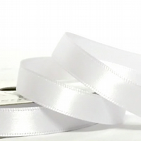 10mm White Satin Ribbon