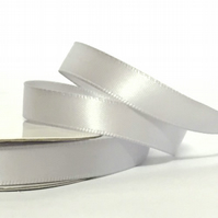 10mm Silver Satin Ribbon