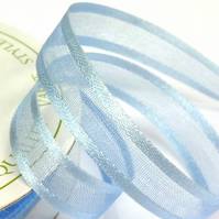10mm Baby Blue Satin Sheer Ribbon