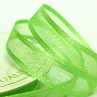 10mm Light Green Satin Sheer Ribbon
