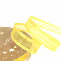10mm Gold Yellow Satin Sheer Ribbon