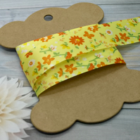 Yellow Floral Ribbon 22mm