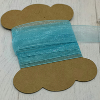 Turquoise Organza Ribbon 15mm