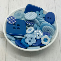 150 Blue Mixed Buttons