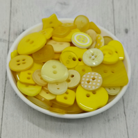 150 Yellow Mixed Buttons