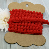 Red Pom Pom Trim