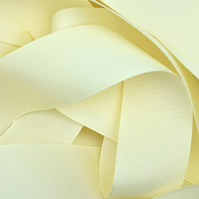 Cream Grosgrain Ribbon 10mm
