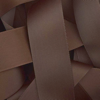 Brown Grosgrain Ribbon 10mm