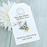 Rainbow Angel Stitch Markers