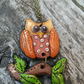 Owl Polymer Clay Pendant