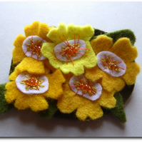 PRIMROSE corsage in sunny yellows