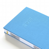 2017 Diary – Week to View Hand Bound Diary – Blue