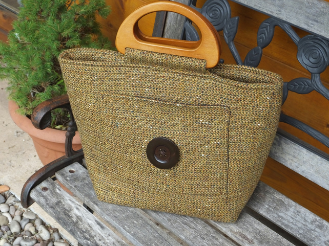 Vintge wool shopping bag - handmade bag - shopper - tote - vintage wool - bags