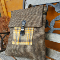 Scottish Tweed rucksack, knapsack, backpack, unisex, handmade,