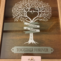 Personalised 'Love Tree' paper cut - unique wedding gift