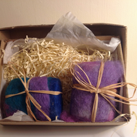Tea Tree and Lavender Felted Soap Box Gift