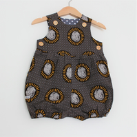 Lion African Print Baby Romper Suit