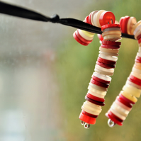 Candy cane Christmas decor, Button decoration, Stocking filler, Xmas decor