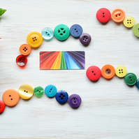 Button fridge magnets, Magnet set, Kitchen decor, Rainbow decoration, Small gift