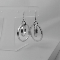 Sterling Silver Hoop Earrings. Silver Hoop Earrings. Contemporary Hoop Earrings