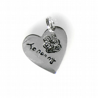 Your Child's Hand Drawn Art Doodles on a Sterling Silver Charm - Small