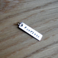 Sterling Silver Name Bar Pendant Charm - 30mm