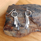 Sterling Silver Drop Dangle Feathered Earrings