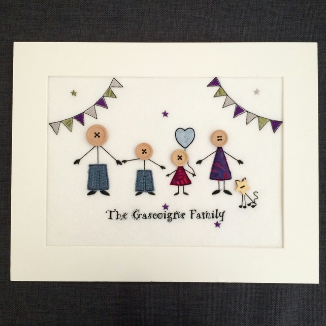 Stick People Family Portrait - Custom Made