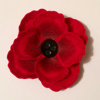 Poppy Brooch - Red Poppy Brooch - Poppies - Felt Brooch