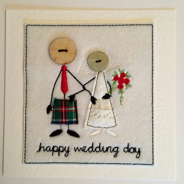 Mr & Mrs - Kilt Wedding Day Card