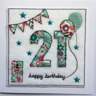 21st - Age 21 Birthday Card