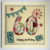 60th - Age 60 Happy Birthday Card